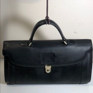 Authentic Burberry Black Leather Satchel
